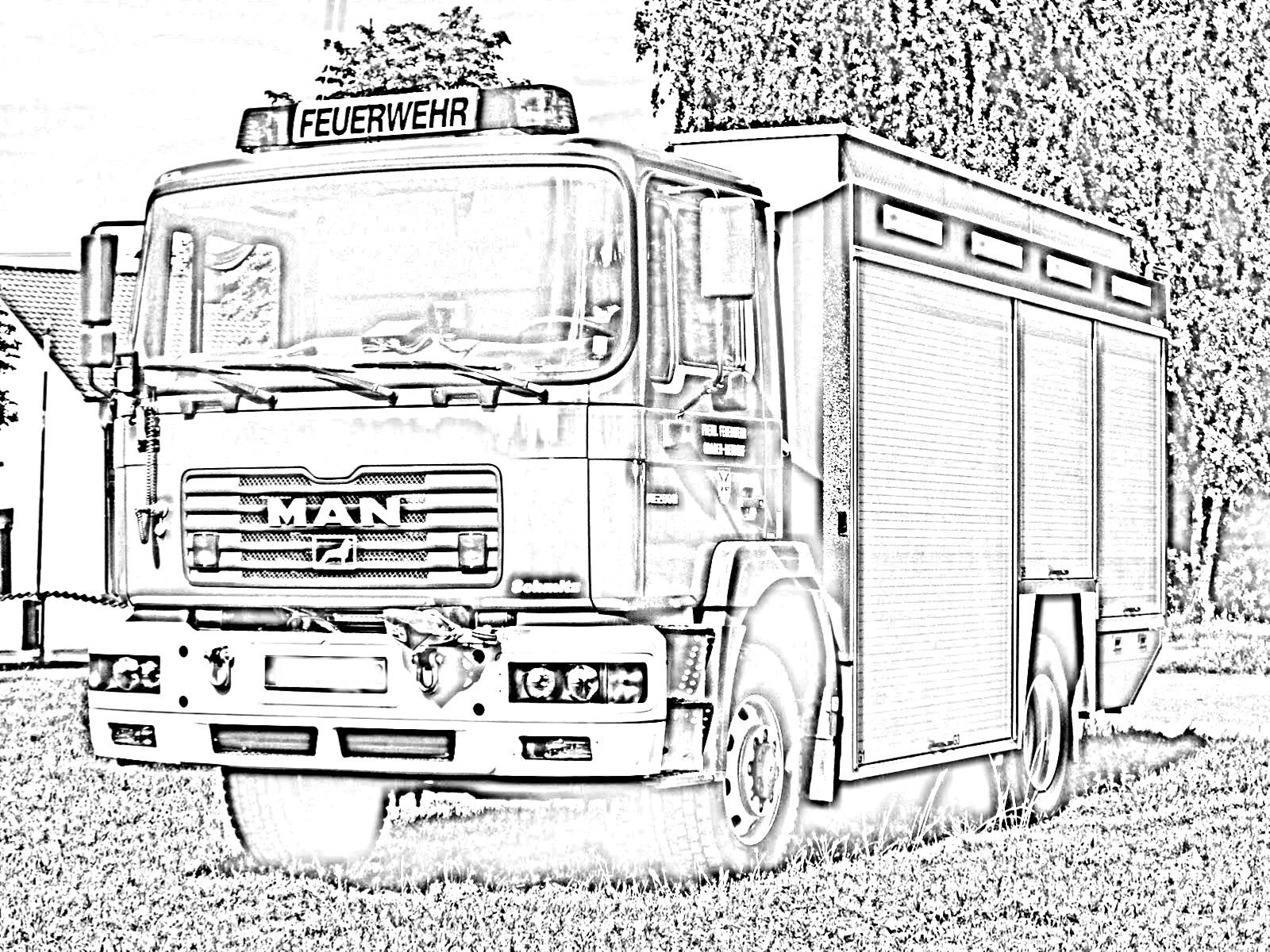 Ausmalbilder Feuerwehrfahrzeuge: FF Graben-Neudorf